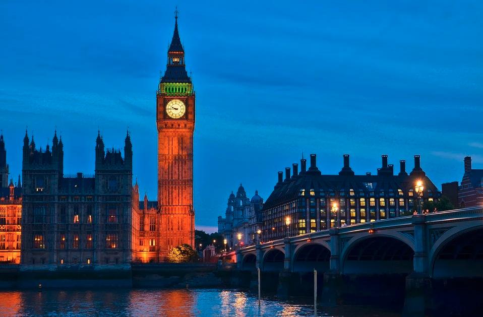 Big Ben, Ur, Lys, Refleksion, Mørk, Himmel, Arkitektur